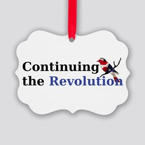 Continuing the Revolution Picture Ornament